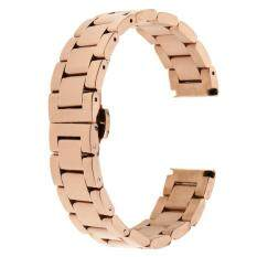BolehDeals Stainless Steel Replacement Watch Strap Link Band Bracelet Rose Gold 18mm Malaysia
