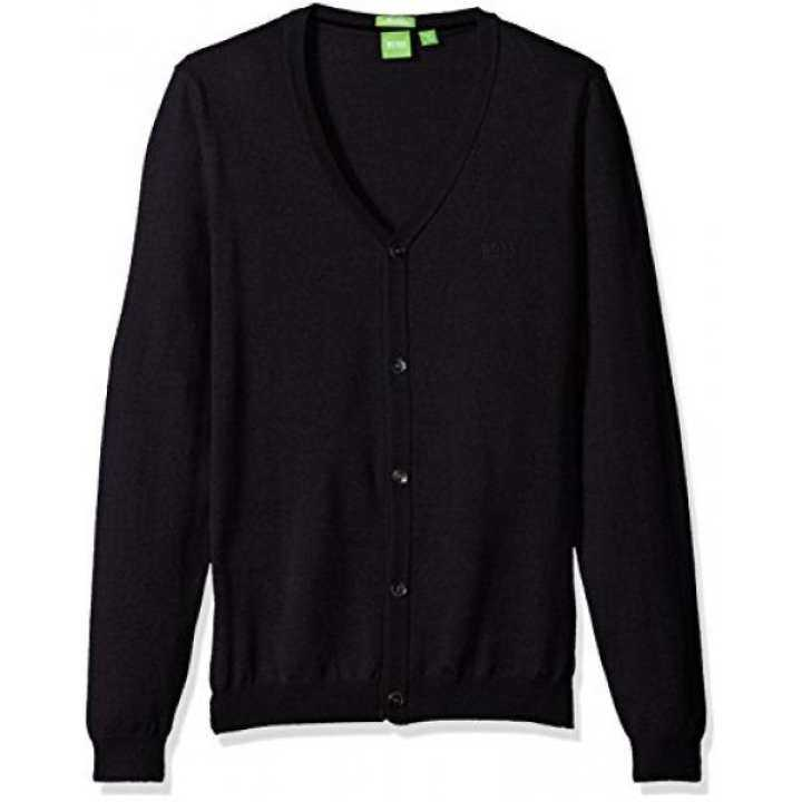 Boss Green Mens C-Can Merino Extrafine Regular Fit Cardigan Sweater, Night Watch, - intl