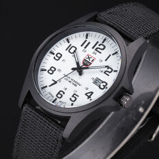 Bounabay Outdoor Mens Unique Design High Quality Canvas Strap Calendar Sports Quartz Watch Malaysia