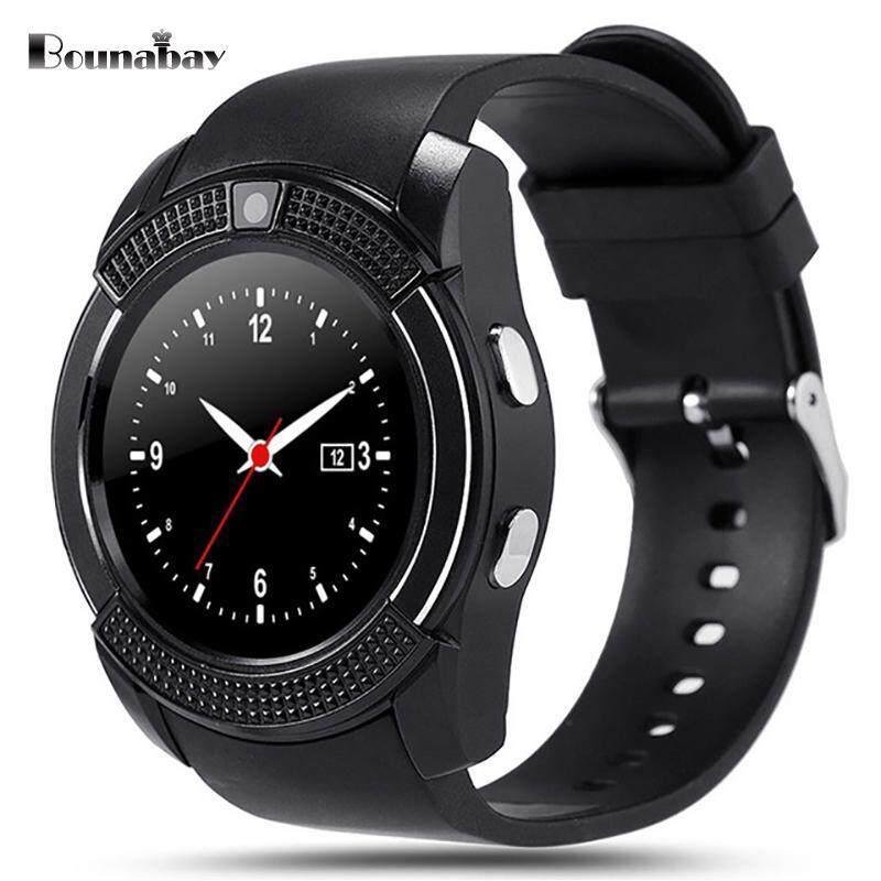 BOUNABAY Round Bluetooth Smart watch for man sports waterproof watches Android phone men Clocks mens sim camera clock Malaysia