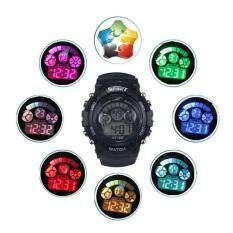 Boy Girl Alarm Date Digital Multifunction Sport LED Light Wrist Watch BK Malaysia