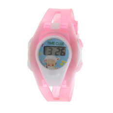 Boy Girl Student Sport Time Electronic Digital LCD Wrist Watch Pink Malaysia