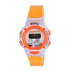 Boys Girls Students Time Electronic Digital Wrist Sport Watch Orange Malaysia