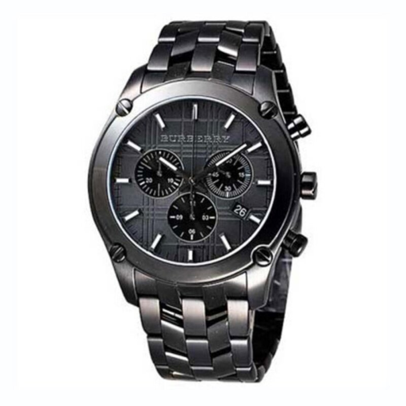 Burberry  Mens Classic Ion Dial Chrono Stainless Steel Watch BU1854 Malaysia
