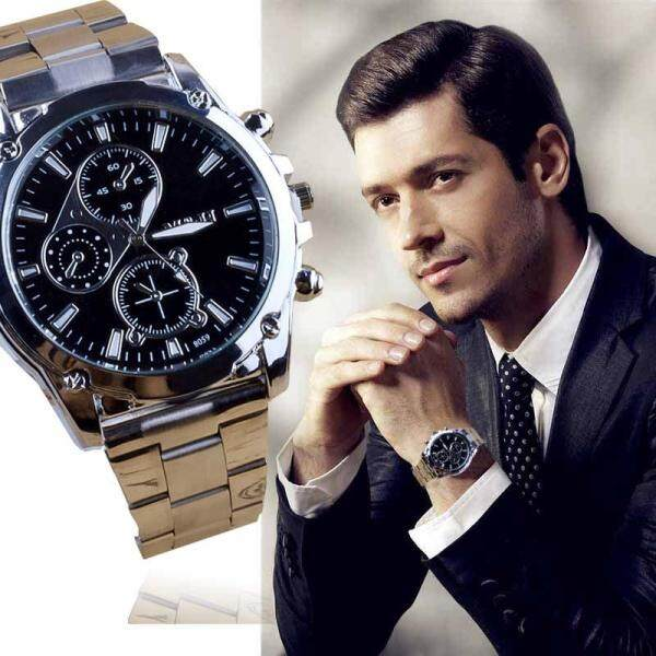 Business About Men Stainless Steel Band Machinery Sport Quartz Watch Malaysia