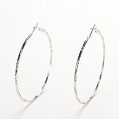 Buytra Women Trendy Large Simple Circle Hoop Earrings Personality Big Circle Earrings Silver By Buy Tra.