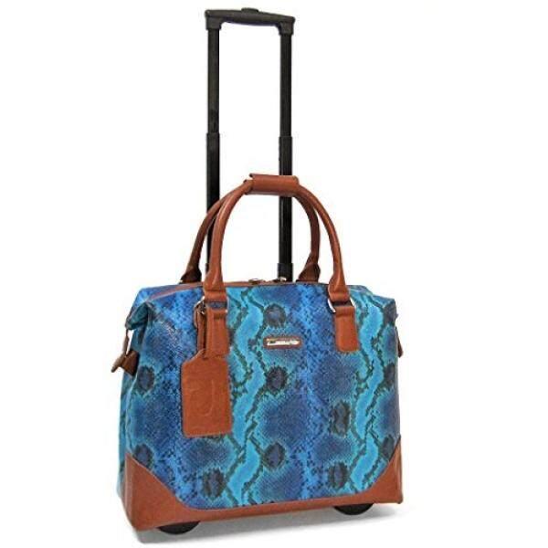 Cabrelli Bali Reptile 15 Laptop Bag on Wheels, Blue/Multi - intl