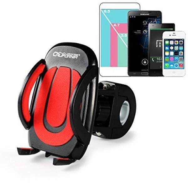 California Cade Elektronik California Cade Elektronik®Universal Adjustable Gunung Berputar Dudukan Sepeda Sepeda Sel Tempat Ponsel Penyangga untuk iPhone 4/4 S/5/5 S/ 5C/6/6 S/6 PLUS Samsung Galaxy dan Banyak Lagi (Hitam & Amp; Merah) -Intl