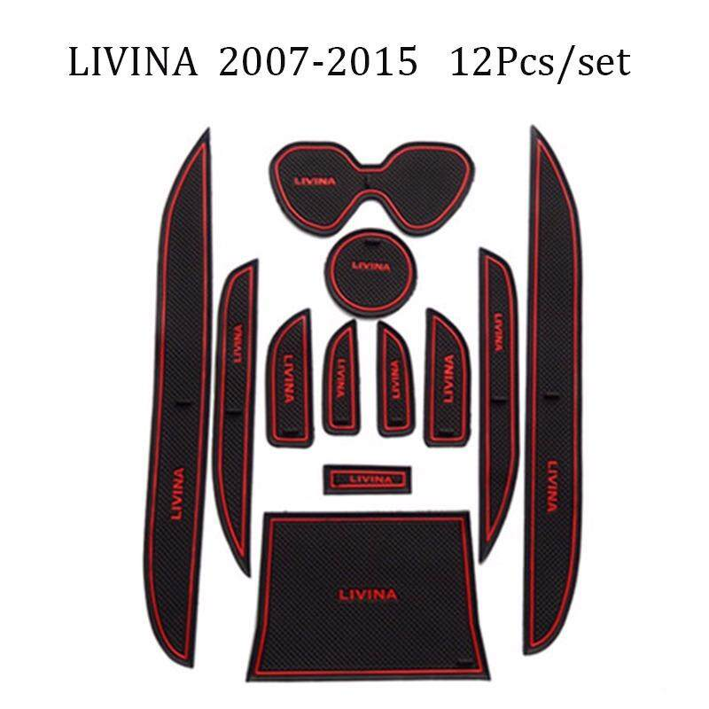 Mobil Pintu Alas Alas Interior Anti Selip Cangkir Alas Dekorasi Interior Aksesori Mobil-Gaya Sarung Untuk Nissan livina 2007-2015-Internasional
