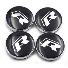 Car Emblem Wheel Hub Caps Center Cover Caps R Racing Center Caps In Black Color For Vw 4pcs/set 60mm By Fashion In Car.