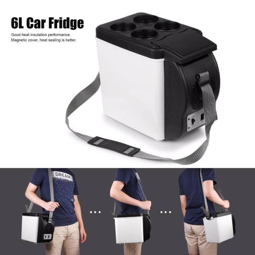 Kulkas Mobil Portabel 12 V 6L Otomatis Mini Mobil Perjalanan Fridge Homecooler Pembeku Hangat-Internasional