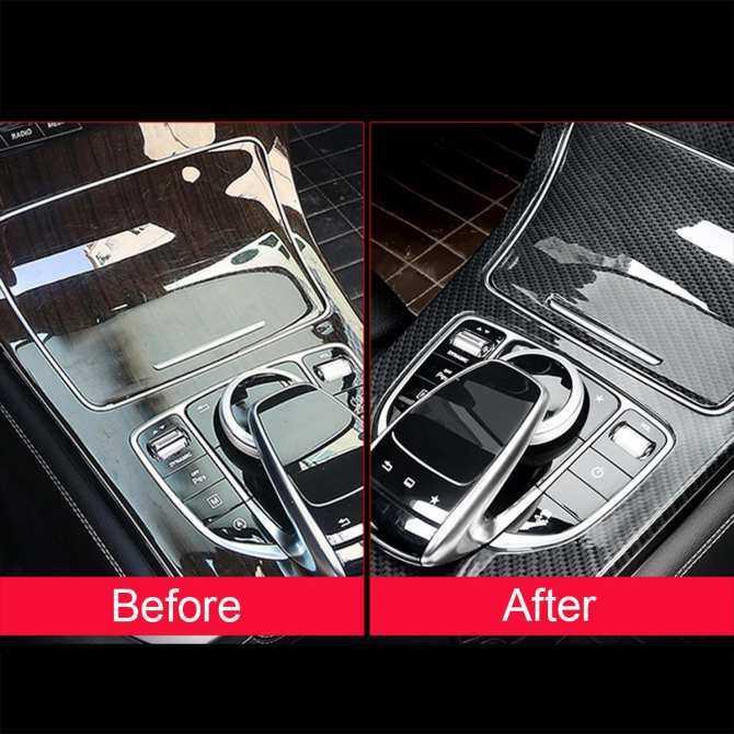 Hình ảnh Carbon Fiber Center Cover For Mercedes Benz C Class No Clock W205 C180L 2015-17 - intl