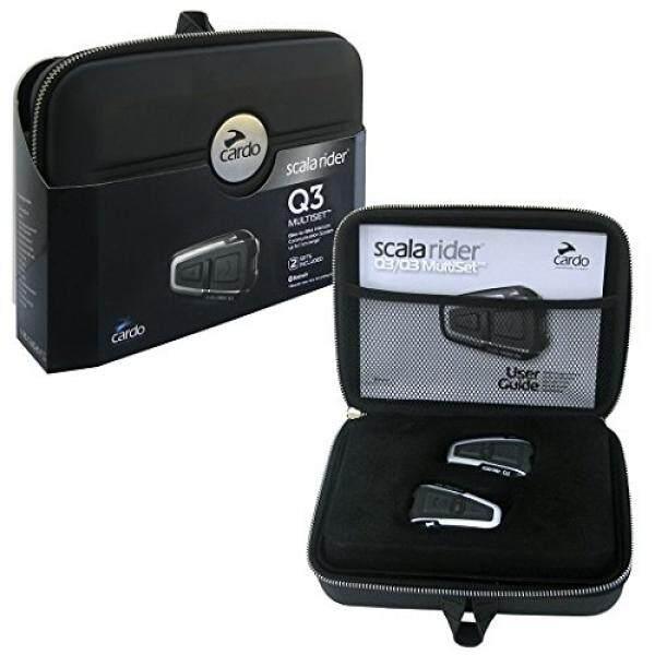 Cardo Scala Rider Q3 Sepeda Motor Bluetooth Headset dan Sepeda untuk Sepeda Sistem Komunikasi, dual Pack (Dihentikan Oleh Produsen)-Intl
