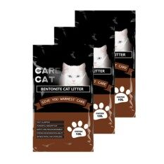 Care Cat Bentonite Cat Litter 10l Coffee X 3 By One Stop Petz Centre