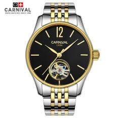 Carnival Tourbillon MenS Watch Mechanical Imported Movement Stainless Steel Simple Dial Waterproof Sapphire Business Clock Malaysia