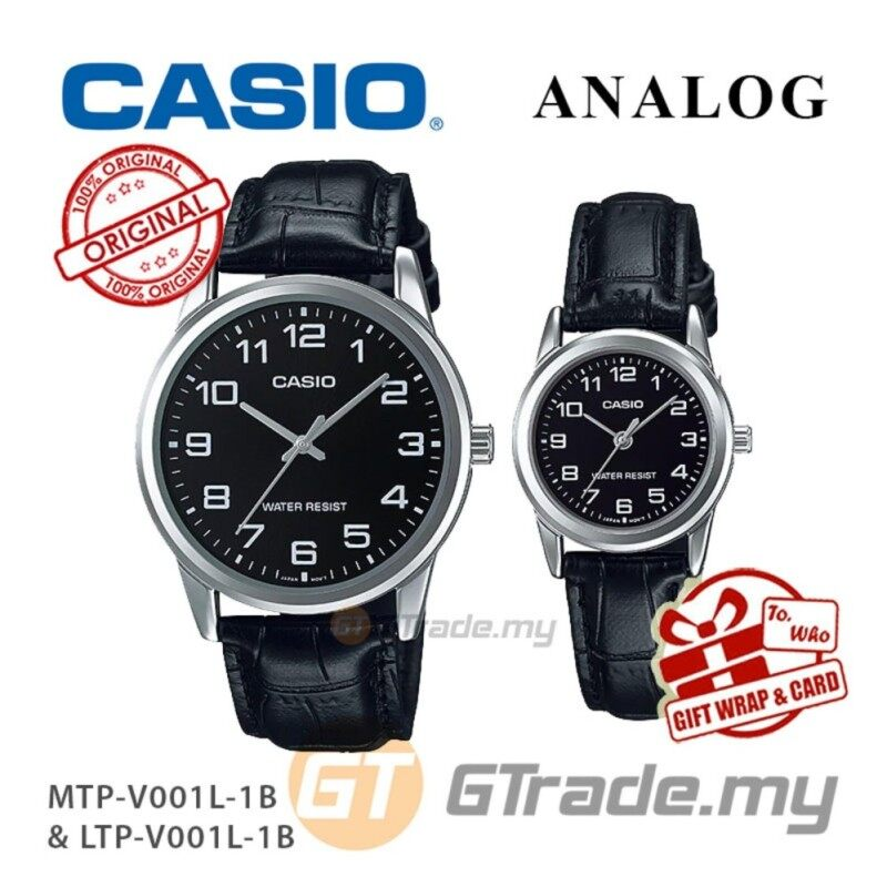 CASIO Couple MTP-V001L-1B & LTP-V001L-1B Couple Watch Simple Easy Malaysia