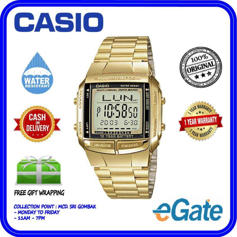 Casio DB-360G-9A Unisex Digital Telememo Data Bank Stainless Steel Watch Ori Malaysia