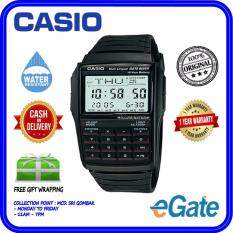 ( 2 YEARS WARRANTY ) Casio DBC-32-1A Digital Mens Data Bank Calculator Black Resin Band Original Watch (DBC-32) Malaysia