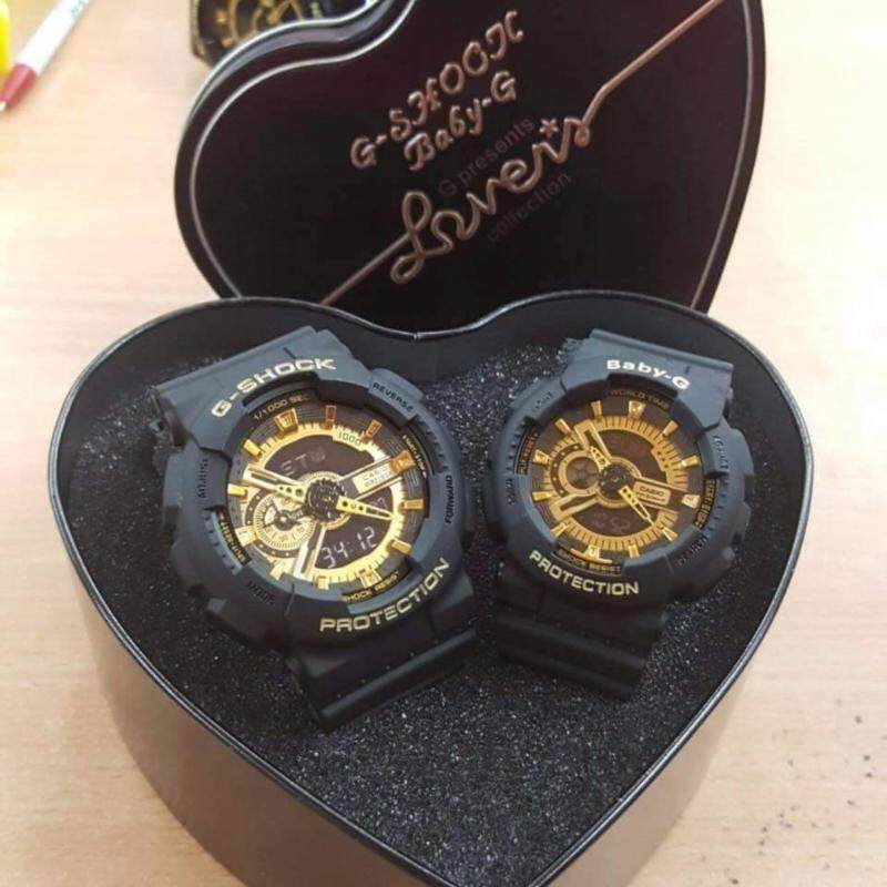 Casio G-Shock & Baby-G Couple Stylish Gold Dial Watches Malaysia