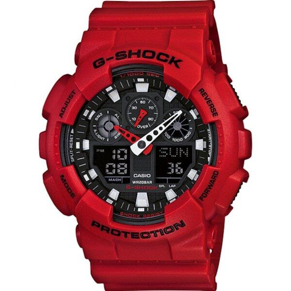 Casio G-shock Ga-100b-4a Mens Watch (Red) Malaysia