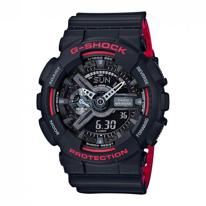 Original G-Shock Mens Black Resin Strap Watch GA-110HR-1A Malaysia