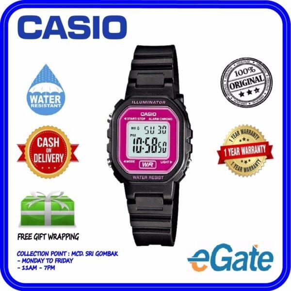 ( 2 YEARS WARRANTY ) Casio LA-20WH-4A Unisex & Kids Digital Youth Design Black Resin Band Original Casual Watch (LA-20WH) Malaysia