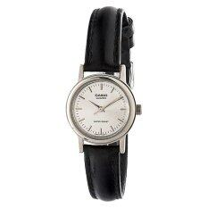 Casio LTP-1095E-7A Ladies Black Leather Strap Watch Malaysia
