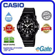 ( 2 YEARS WARRANTY ) Casio LRW-200H-1BV Analog Kids & Ladies Classic Black Resin Strap Original Watch (LRW-200H) Malaysia