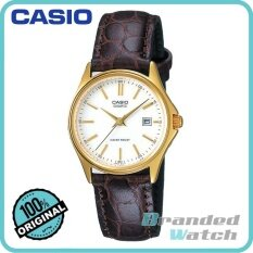 Casio Ltp-1183q-7adf Womens Analog Date Display Leather Watch Ltp-1183q-7a By Branded Watch.