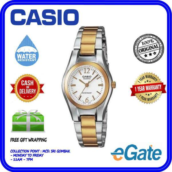( 2 YEARS WARRANTY ) Casio LTP-1253SG-7A Women Analog Two-Tone Silver Gold Stainless Steel Original Casual Watch (LTP-1253SG) Malaysia