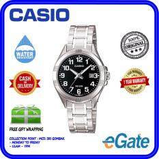 Casio LTP-1308D-1BV Analog Women Classic Black Dial Date Display Stainless Steel Original Watch Malaysia