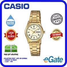 ( 2 YEARS WARRANTY ) Casio LTP-V006G-9B Analog Women Gold Stainless Steel Date Day Display Original Watch (LTP-V006G) Malaysia