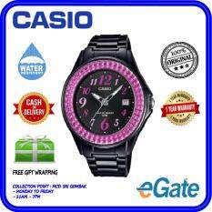 ( 2 YEARS WARRANTY ) Casio LX-500H-1BV Women Analog Date Functioning Classic Black Resin Band Pink Case Original Casual Watch (LX-500H) Malaysia