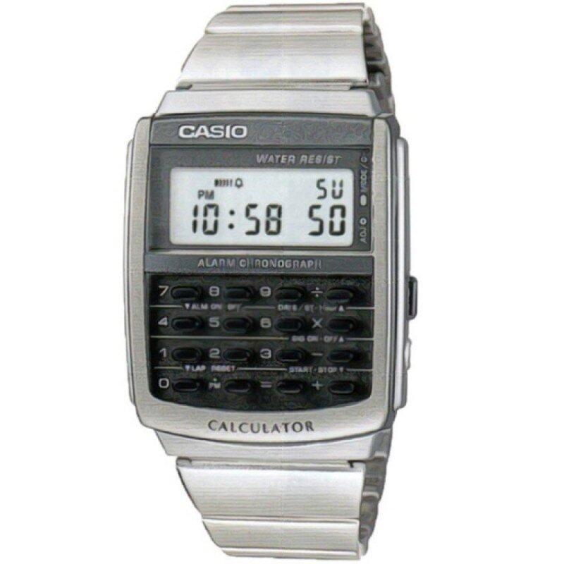 Casio Men Digital Calculator Black Dial  Steel Band Watch CA-506-1DF Malaysia