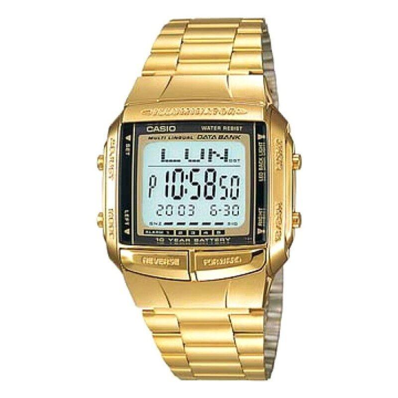 Casio Men Digital Gold Stainless Steel Watch DB-360G-9ADF Malaysia