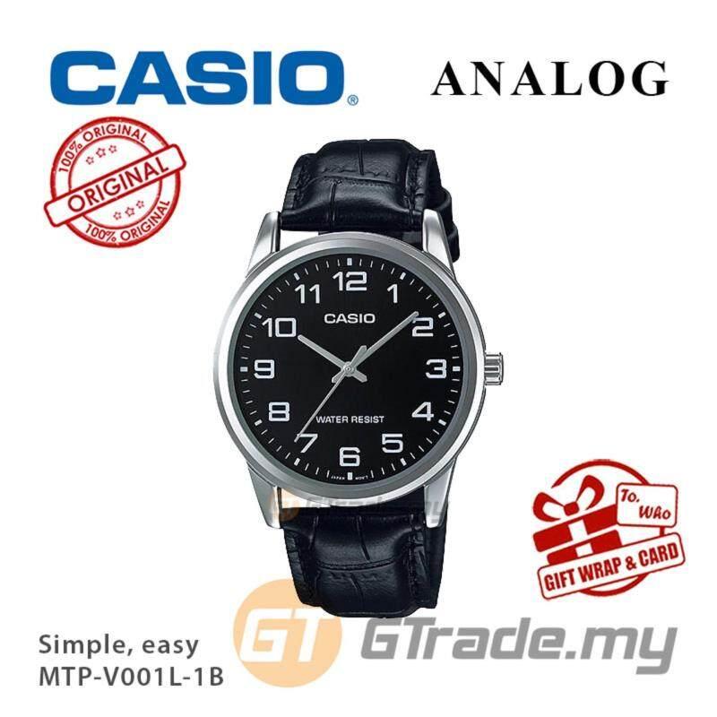 CASIO Men MTP-V001L-1B Analog Watch | Simple Easy Design Malaysia