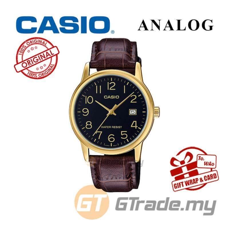CASIO MEN MTP-V002GL-1B Analog Watch  Date Display Simple Easy Malaysia