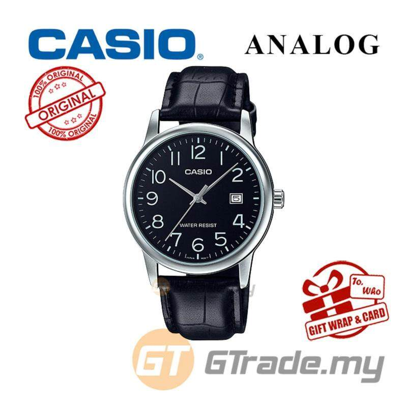 CASIO MEN MTP-V002L-1B Analog Watch | Date Display Simple Easy Malaysia