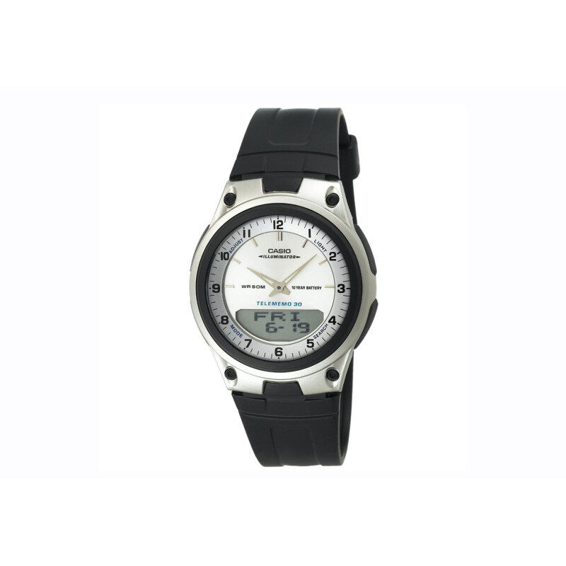 Casio Men Silver Dial Black Resin Band Watch AW-80-7AVDF Malaysia