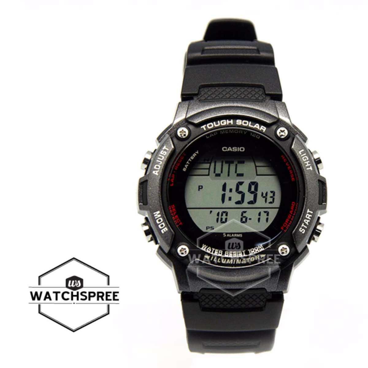 Casio Pria Digital Tough Solar Hitam Resin Strap Watch WS200H-1B W-S200H-