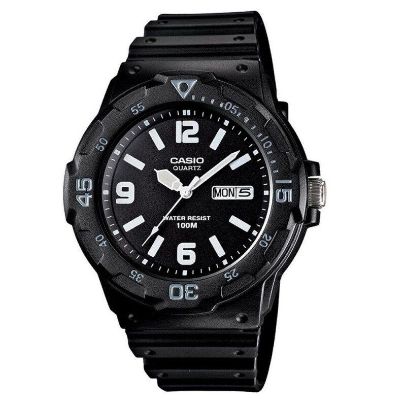 Casio Mens MRW-200H-1B2 100m Analog Resin Black & White 100% Original Watch (Free Shipping) Malaysia