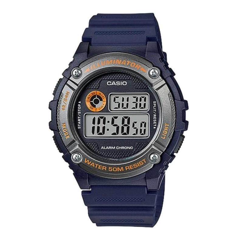 Casio Mens W-216H-2B Standard Digital Dark Blue & Silver Watch (Free Shipping) Malaysia