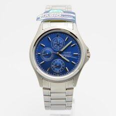 Casio MTP-1246D-2A Blue Dial Stainless Steel Quartz Men Casual Analog Watch