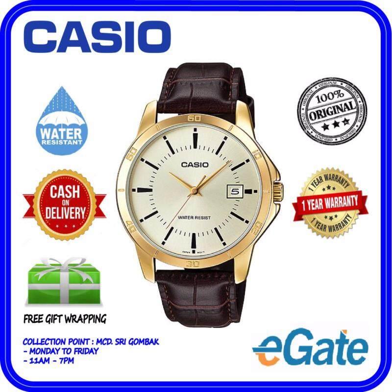 Casio MTP-V004GL-9A Men Analog Watch - Brown Casual Original Malaysia
