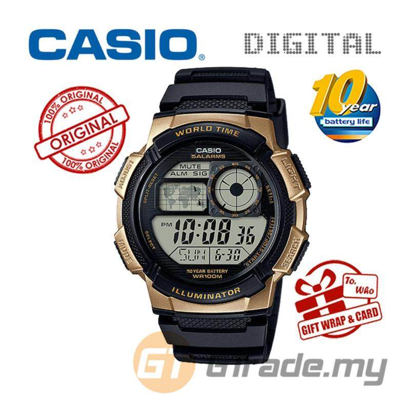 CASIO STANDARD AE-1000W-1A3V Digital Watch - 10 Yrs Batt. WR100M Malaysia