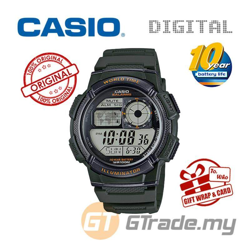 CASIO STANDARD AE-1000W-3AV Digital Watch - 10 Yrs Batt. WR100M Malaysia