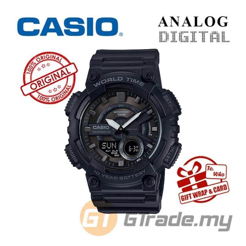 CASIO STANDARD AEQ-110W-1BV Analog Digital Watch Malaysia