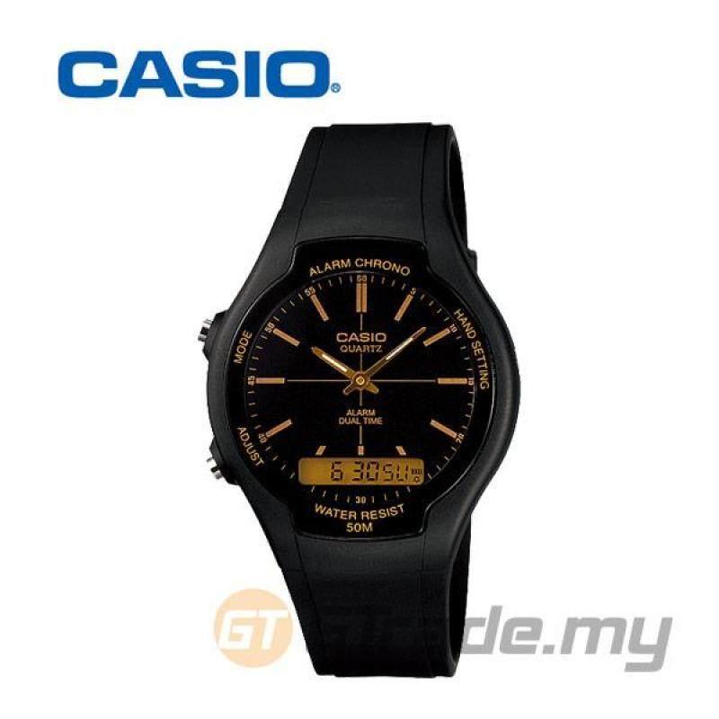 CASIO STANDARD AW-90H-9E Analog Digital Watch   Dual Time 50m WR Malaysia