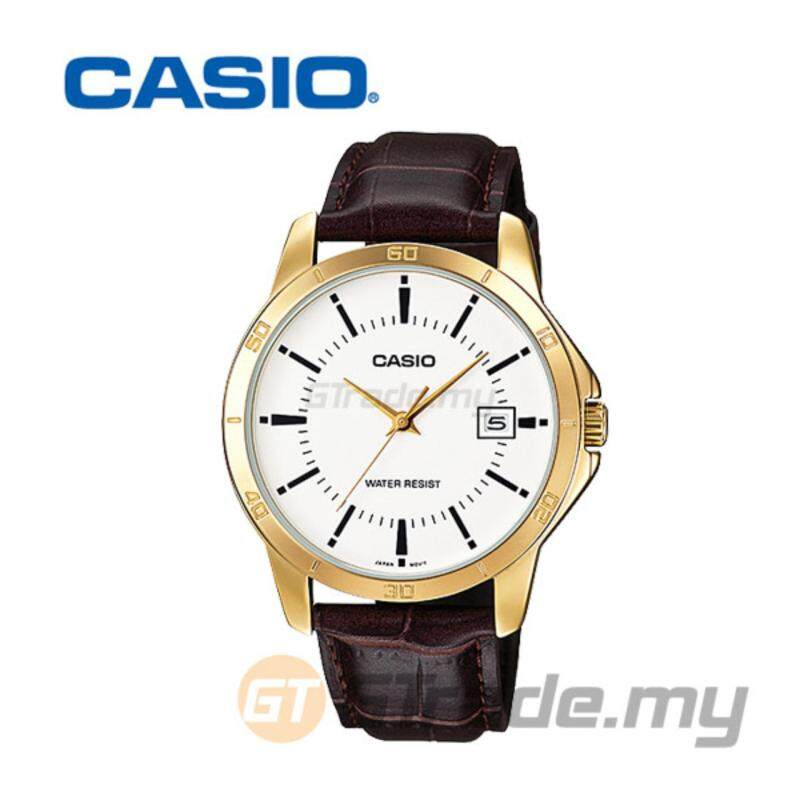 CASIO STANDARD MTP-V004GL-7AV Analog Mens Watch - Gold Leather Malaysia