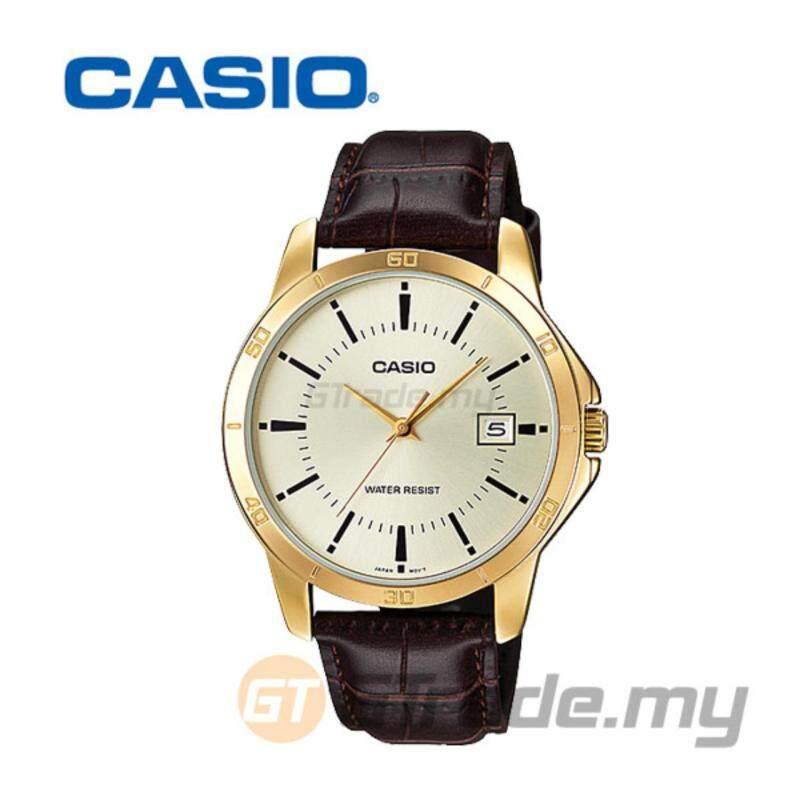 CASIO STANDARD MTP-V004GL-9AV Analog Mens Watch - Gold Leather Malaysia